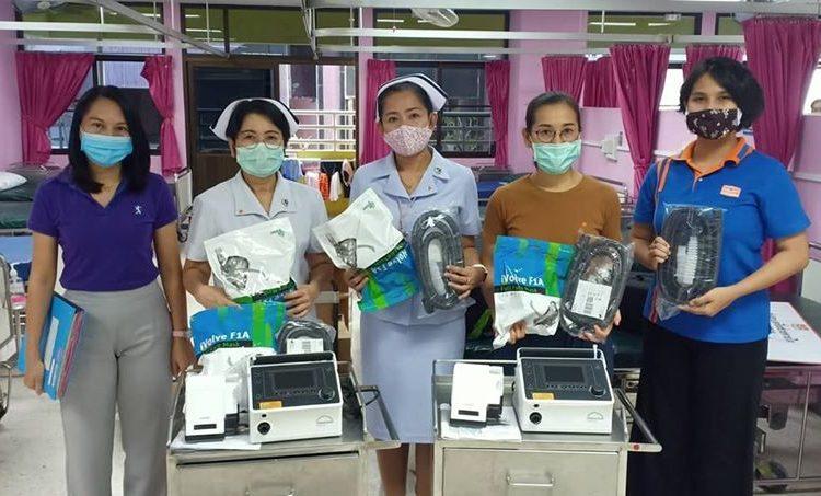 ส่งมอบเครื่องช่วยหายใจ ณ โรงพยาบาลราชบุรี